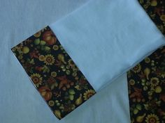 White gauze dish towel with fall boarder by EmilHansDesigns, $2.95