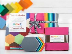 Check out Robert Kaufman Kona Summer New Colors Pre-Cuts on