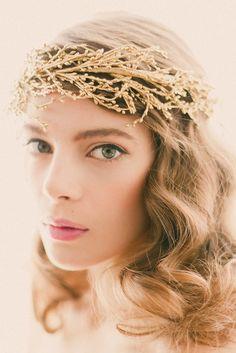 Golden woodland crown - SOLSTICE