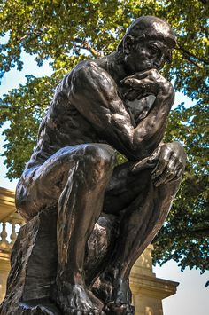 Auguste Rodin - The Thinker at Rodin Museum Philadelphia PA