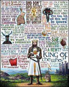 Monty Python and the Holy Grail quotes Thrasher, Aliens, Pulp, Monty Python, Cultura Pop, Good Movies, Funny Movies, Funny Games, Make Me Smile