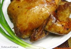 Remove and discard giblets and neck from chicken. Rinse chicken with cold water; pat dry. Starting at neck cavity, loosen skin from breast a...
