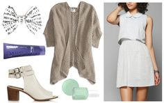 """Fashion Inspiration: Kina Grannis' """"Dear River"""" >> Product Information: Dress- Urban Outfitters, Booties- TopShop, Hair- Target, Bow- Etsy, Nail Polish- Essie, Cardigan- American Eagle"""