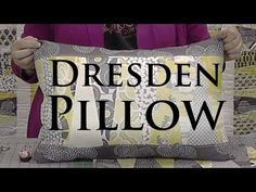 """▶ Dresden Pillow - Make a Cute Pillow with Layer Cakes (10"""" Squares) - YouTube @missouriquiltco"""