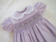 Sweet and Pretty Soft Lavender Hand Smocked Dress for Baby Girl. Made to Order. Sweet and Pretty Soft Lavender Hand Smocked Dress for Baby Girls Smocked Dresses, Little Dresses, Little Girl Dresses, Pretty Dresses, Beautiful Dresses, Smocked Dresses For Toddlers, Vintage Baby Dresses, Smocking Baby, Smocking Patterns