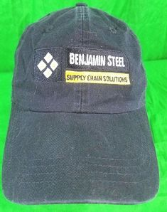 6f589ae9db2 Benjamin Steel Supply Chain Solutions Hat Black Gold Strapback Cap  AHead   BaseballCap Steel Supply