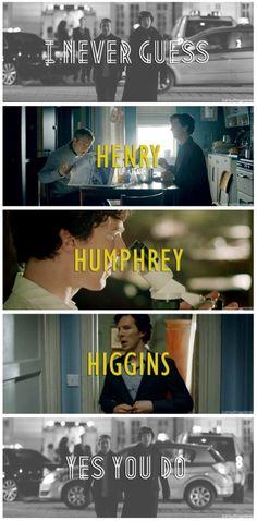 Making Sherlock guess. Just one way John changed Sherlock. Watson Sherlock, Sherlock Holmes, The Science Of Deduction, I Dont Have Friends, Vatican Cameos, Mrs Hudson, Benedict And Martin, Benedict Cumberbatch Sherlock, Sherlock Quotes