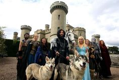 Game Of Thrones wedding party at Eastnor Castle.