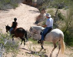 Horseback Riding Scottsdale's McDowell Sonoran Preserve in Arizona.