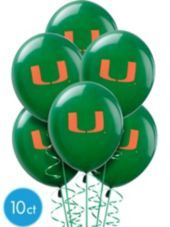 Miami Hurricanes Balloons - Party City 10/$5 or Balloons.com 25/$6