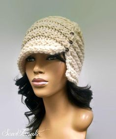 Looking for your next project? You're going to love Easy Loom Knit Cloche/Flapper Hat by designer ScarFanatic.