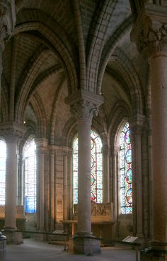 Cathedral from Saint-Denis.    Originally Benedictine monastry. Origin of Gothic architecture in France.