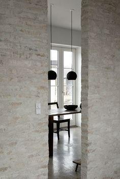 Heylen Ceramics : Geschipperde baksteen binnenhuis
