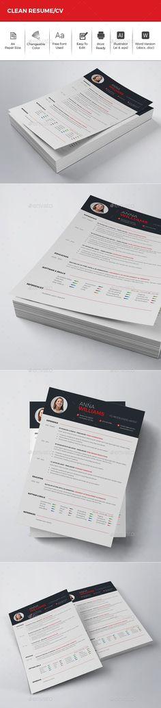 Resume template Pinterest Template, Cv template and Resume cv