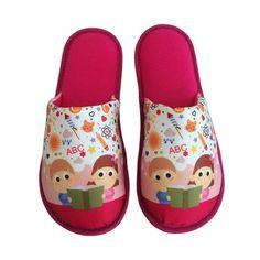 Pantufa Infantil ABC Pink > Conforto Store