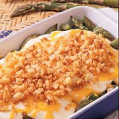 Asparagus Onion Casserole, contest winning recipe from Taste of Home mag.
