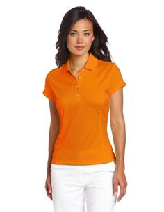 Adidas Golf Women's Climalite Solid Polo - 100% moisture wicking polo with logo under collar in back. Great ladies shirt at $45.99 embroidered.