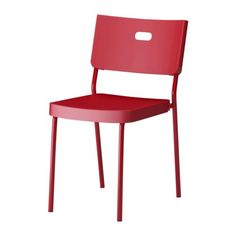 HERMAN chair by IKEA #home #decoration #homedecor #red #chair
