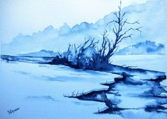 WATERCOLOR ORIGINAL Painting, Original Watercolor Painting-watercolor landscape, Pinetreeart, WATERCOLOR, landscape original, painting by pinetreeart on Etsy