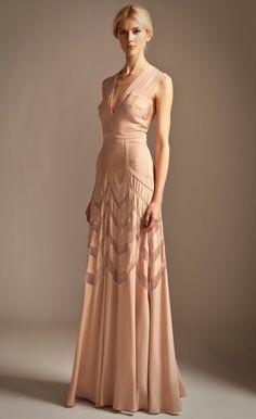 Long Romy Dress alternative wedding dress pink