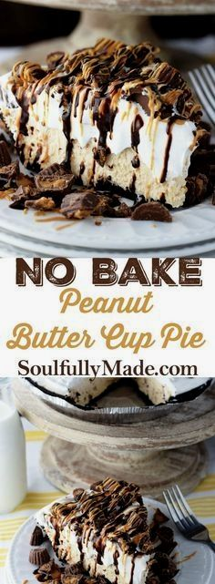 No Bake Peanut Butter Cup Pie - this easy no bake peanut butter cup cheesecake f., Desserts, No Bake Peanut Butter Cup Pie - this easy no bake peanut butter cup cheesecake filling is creamy, fluffy, chocolaty and a peanut butter lovers dream. Peanut Butter Cups, Peanut Butter Cup Cheesecake, Peanut Butter Desserts, Peanut Butter Pie Recipe No Bake, Dessert Oreo, Dessert Cups, No Bake Cheesecake Filling, Cheesecake Recipes, Pie Recipes