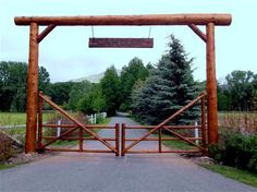 Ranch Driveway Entrances   Ideas for Ranch Entryways, Ranch Entrances , Rustic Driveway Entrances.....D AND B SUPPLY HAS A VERY COOL ONE. GOAL FOR NEXT SPRING!!