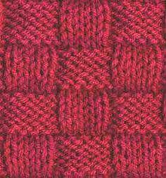 Basketweave II - Knitting Pattern Stitch (knit and purl) - Written instructions and chart.