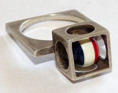 Ring   Artist ?.  Sterling silver. ca. 1960s.
