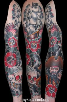 tattoos by myke chambers Traditional Tattoo Artist Myke Chambers