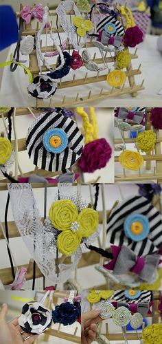 Make headbands at a baby shower. Omg if ever I want to do this at our girl baby shower!!