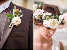 Mans boutinere French flower style | Image by Cat Hepple Photography, see more at http://www.frenchweddingstyle.com/french-bohemian-elopement-teamamour/