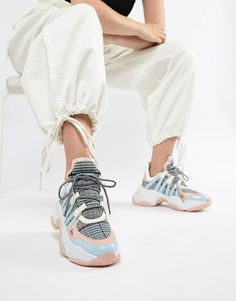 Jeffrey Campbell pastel check chunky trainers at asos.com 81b3f34d7b7