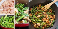 Recetas ligeras: Wok de pollo con espárragos verdes