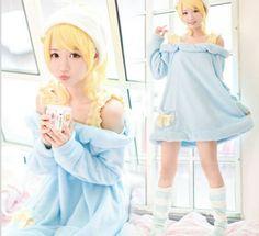 Kawaii Plush Pajama Dress