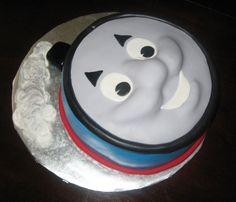 Thomas the tank engine face cake