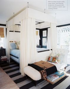 canopy bed, hung from the ceiling, lonny