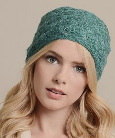 Look what I found on #zulily! Teal & Gold Wide-Knit Headband by Leto Collection #zulilyfinds