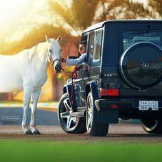 Black and White. Perfect match. Photo shot by @omaralfehaid.   #G55AMG #GClass #MercedesBenz #AMG #Horsepower #Adventuremobile #Carphotography #mbfanphoto #drivingperformance