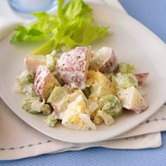 Here's a low-sodium potato salad recipe. With all the other flavors, you won't miss the salt. This side dish is also low in calories and fat.