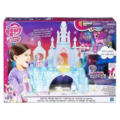 Imagine special times with Baby Flurry Heart and Princess Cadence in the Crystal Empire Castle! This glamorous My Little Pony Explore Equestria Crystal Empire Castle . Empire, Castle Dollhouse, Flurry Heart, My Little Pony Dolls, Princess Cadence, Baby Pony, Baby Swings, All Toys, My Little Pony
