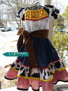 Jessie inspired Toy Story Dress Cowgirl Costume Birthday Party