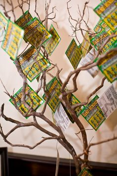 Money Tree. Great for raffles, just make sure you cover it with cellophane so the tickets stay on the tree...