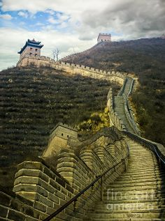 """SALE this weekend! Only 10 available. """"Up The Great Wall"""" by Seas Reflecting Starlight 11x14 canvas prints featuring a UNESCO World Heritage Site near Beijing China. $52 http://fineartamerica.com/weeklypromotion.html?promotionid=128578  Fine Art America / Fine Art International ships worldwide http://seasreflectingstarlight.com/2013/10/24/1-year-anniversary-and-specials/"""