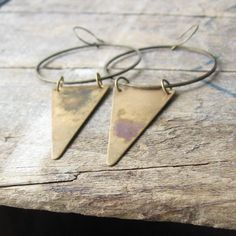 desert tribe hoop triangle earrings by OpulentOddities on Etsy, $38.00