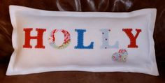 Gorgeous Personalised Name Cushions for Boys and Girls. £13.00 Click here or Repin if you love it!