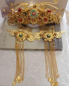 Chinese Empress Hair Accessories Comb Fascinators Headbands Bridal Headpieces