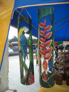 Bamboo Light, Bamboo Art, Bamboo Crafts, Palm Frond Art, Palm Tree Art, Pvc Pipe Crafts, Pvc Pipe Projects, Eagle Craft, Lampe Tube
