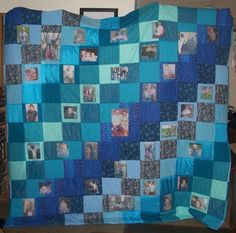 I used printable fabric and a CD of family photos to make this wonderful anniversary quilt for the couple pictured in the middle. Pay attention to the washing instructions when using printable fabrics!!!