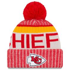 YOUTH Kansas City Chiefs NFL New Era 2017 Sideline Official Sports Knit  Beanie f18b4242c