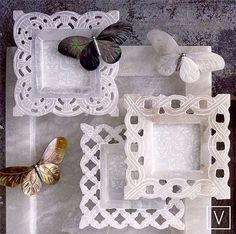 White Alabaster Frames from Roost